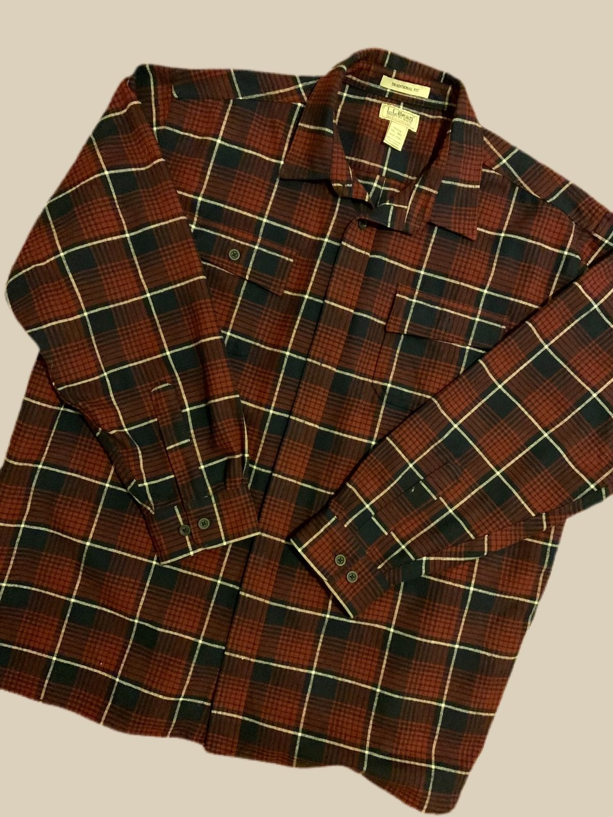 L.L. Bean Flannel Plaid Shirt Size XXL