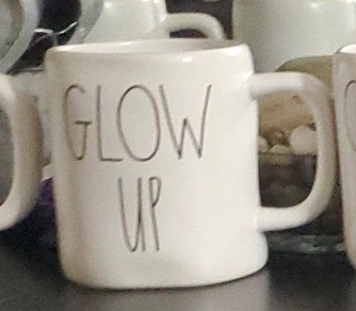 """Rae Dunn mug """"GLOW UP"""""""