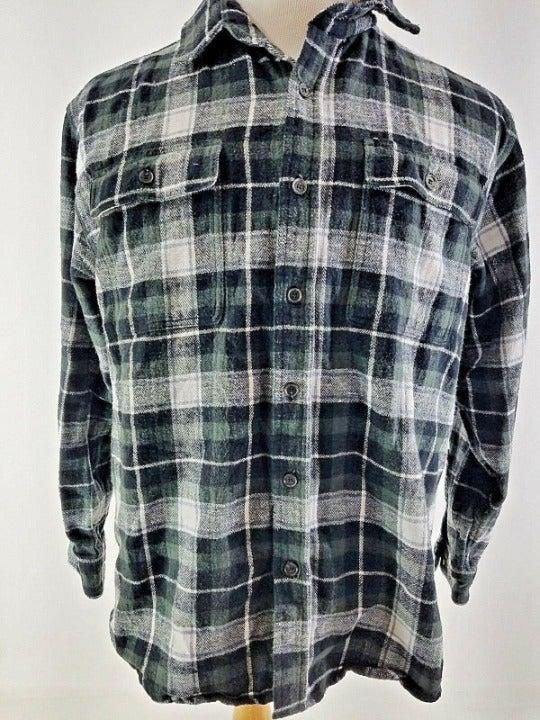 Stanley Mens Large Flannel Shirt black