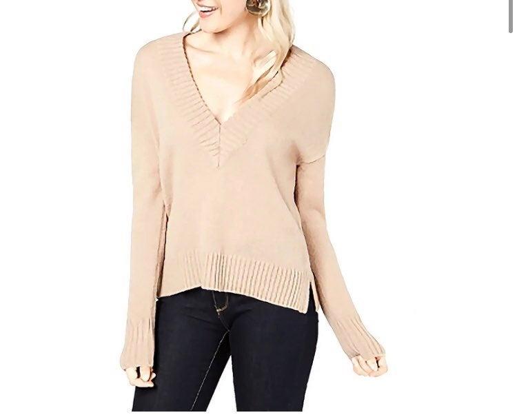 Sweater V-Neck Ribbed. Bar III BRAND. M