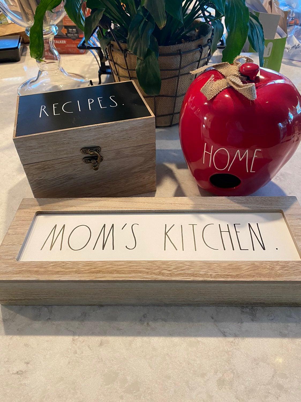 Rae Dunn Recipe Box Sign Bird House