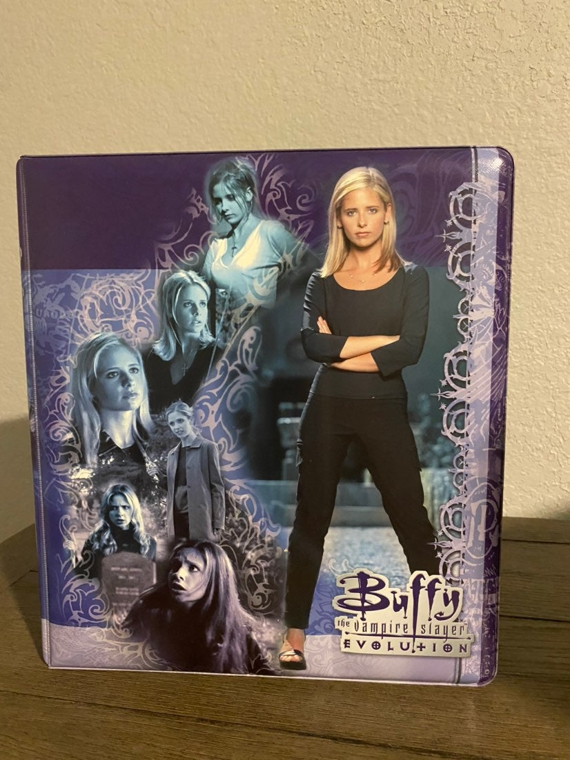 Buffy evolution binder trading cards