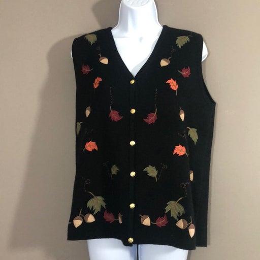Vintage Crystal Kobe Fall Sweater Vest