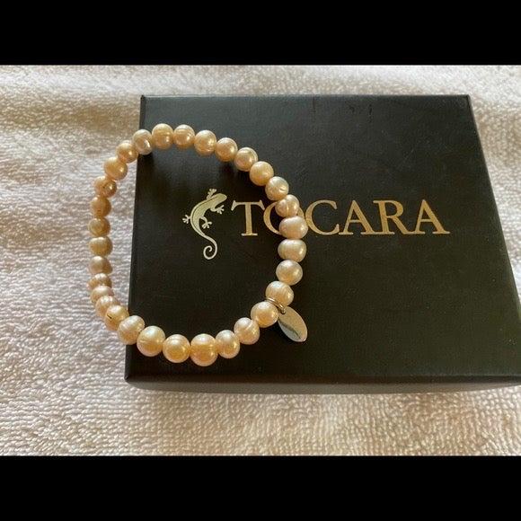 Tocara Pink Pearl Stretch Bracelet