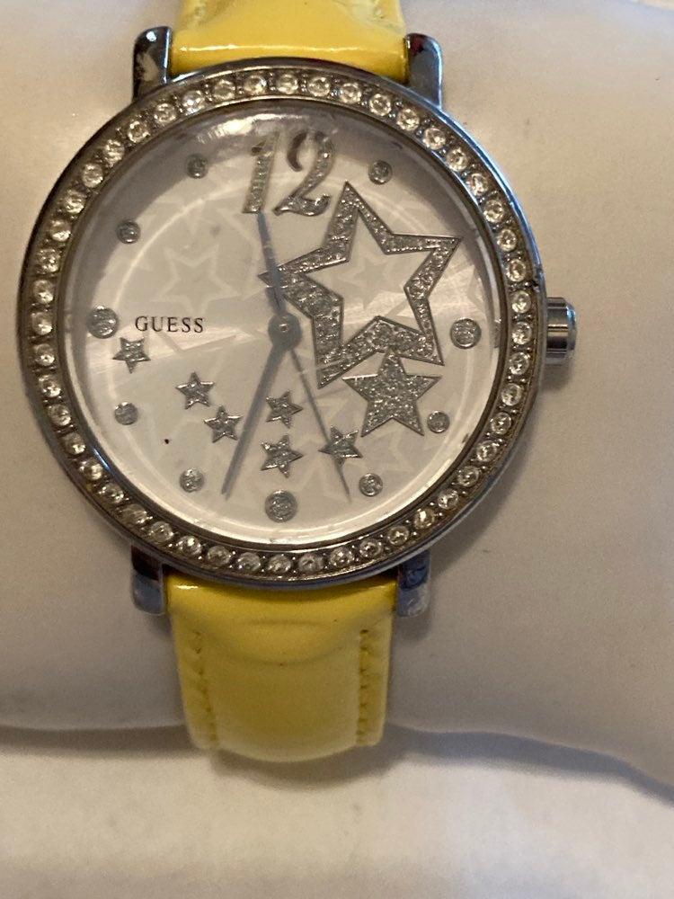Guess Ladies Yellow Strap Quartz Watch