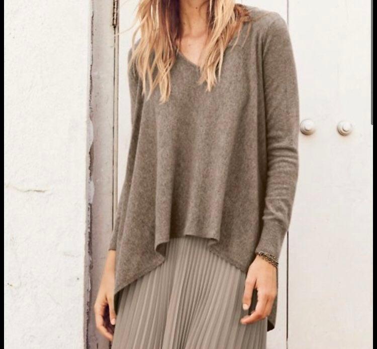 Garnet Hill Cashmere Oatmeal Sweater