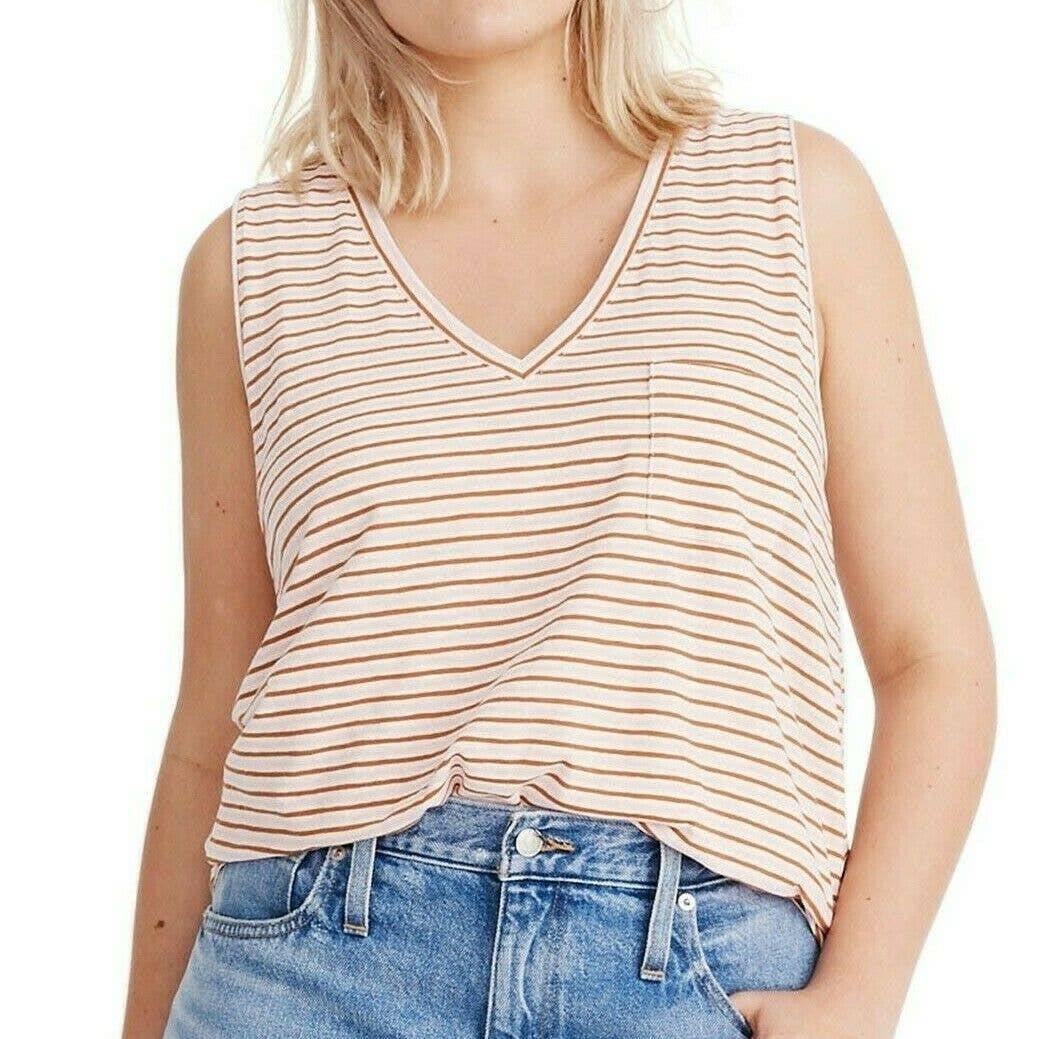 MADEWELL NWOT Whisper Cotton Stripe Tank