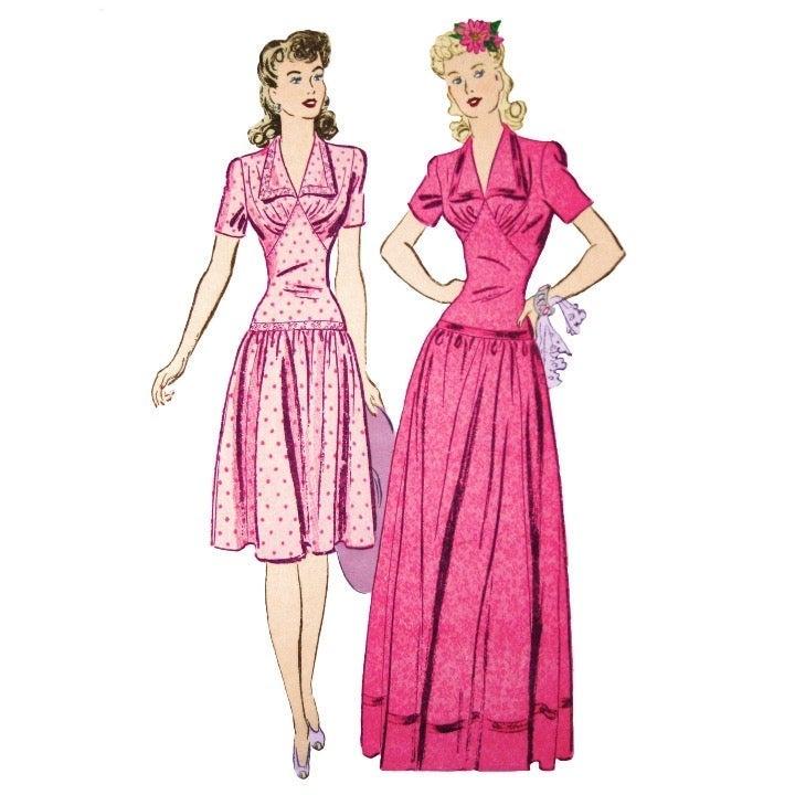 1940s Advance 2977 Dress Evening Gown 14