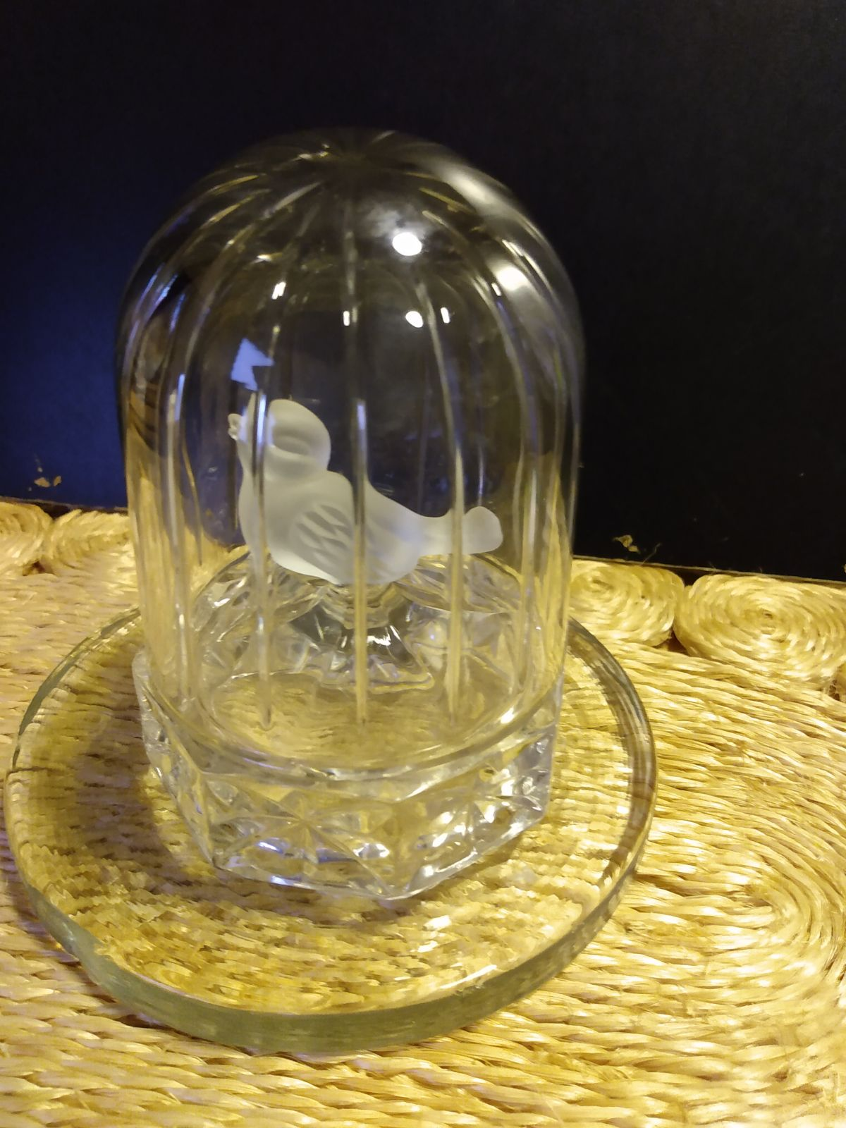 Crystal Bird in Cage
