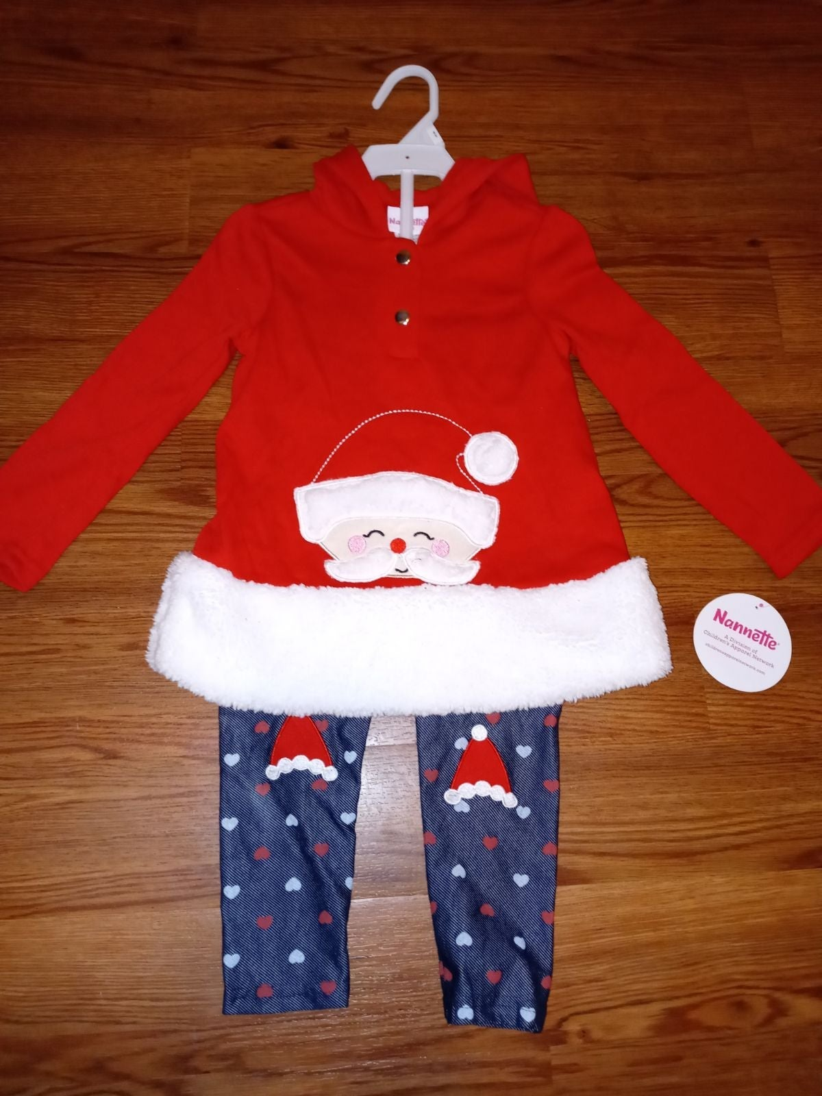 Nannette Girls Christmas Outfit Size 4T