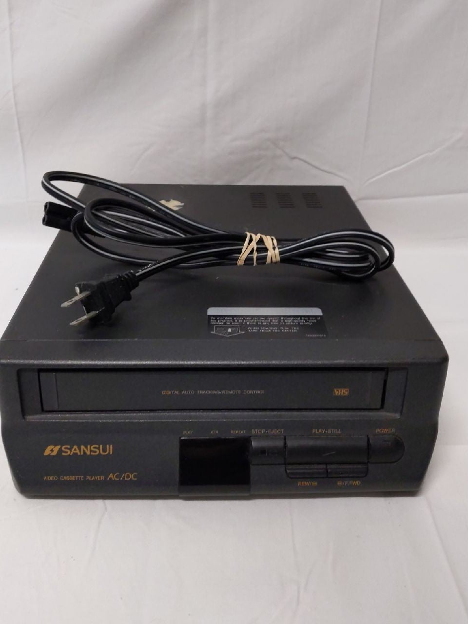 VCR Sansui VHS Tape Player Compact