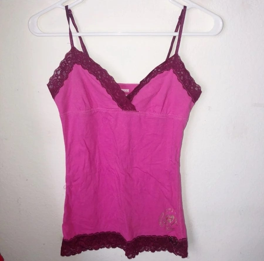 PINK VS Pink Lace Trimmed Camisole