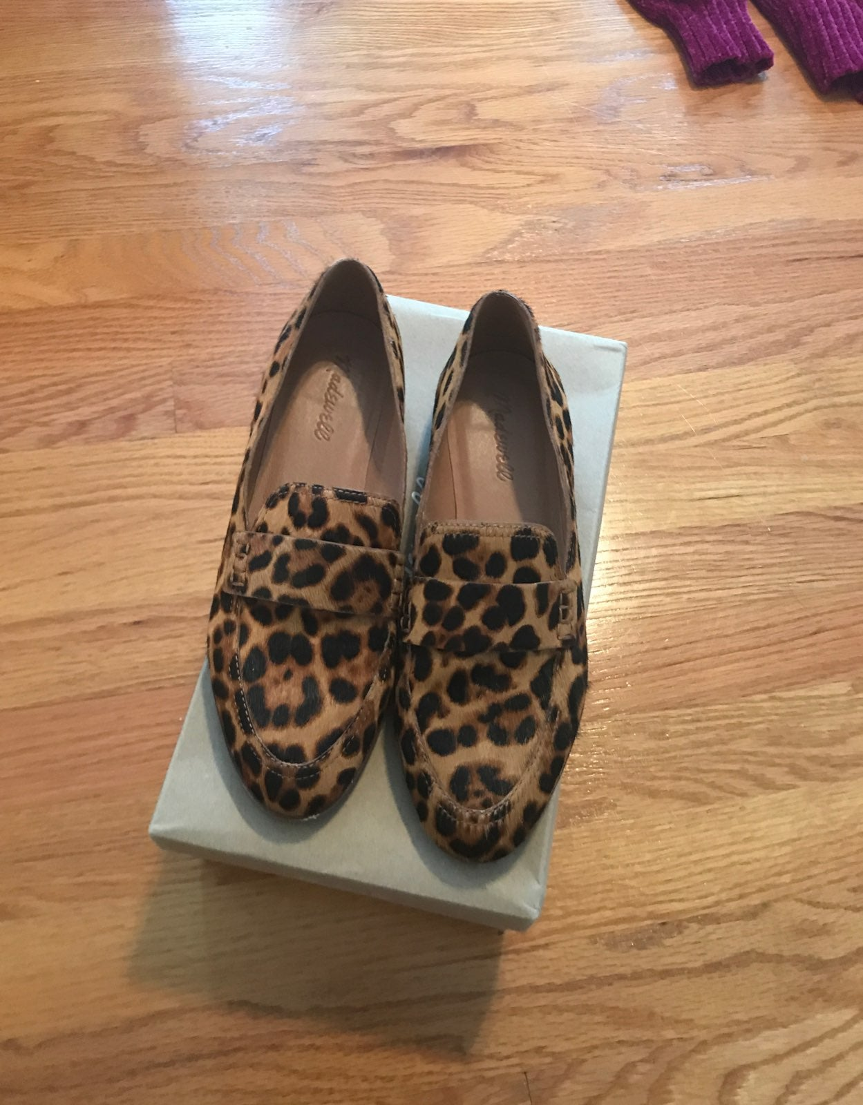 Madewell alex leopard loafer