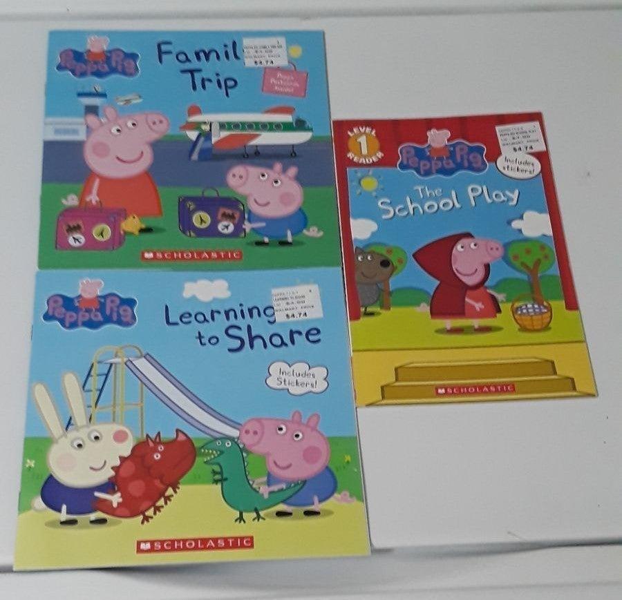 Peppa Pig Books Lot Pre-K,K,1st NEW