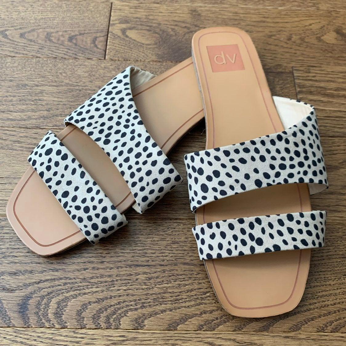 dolce vita animal print sandals 9