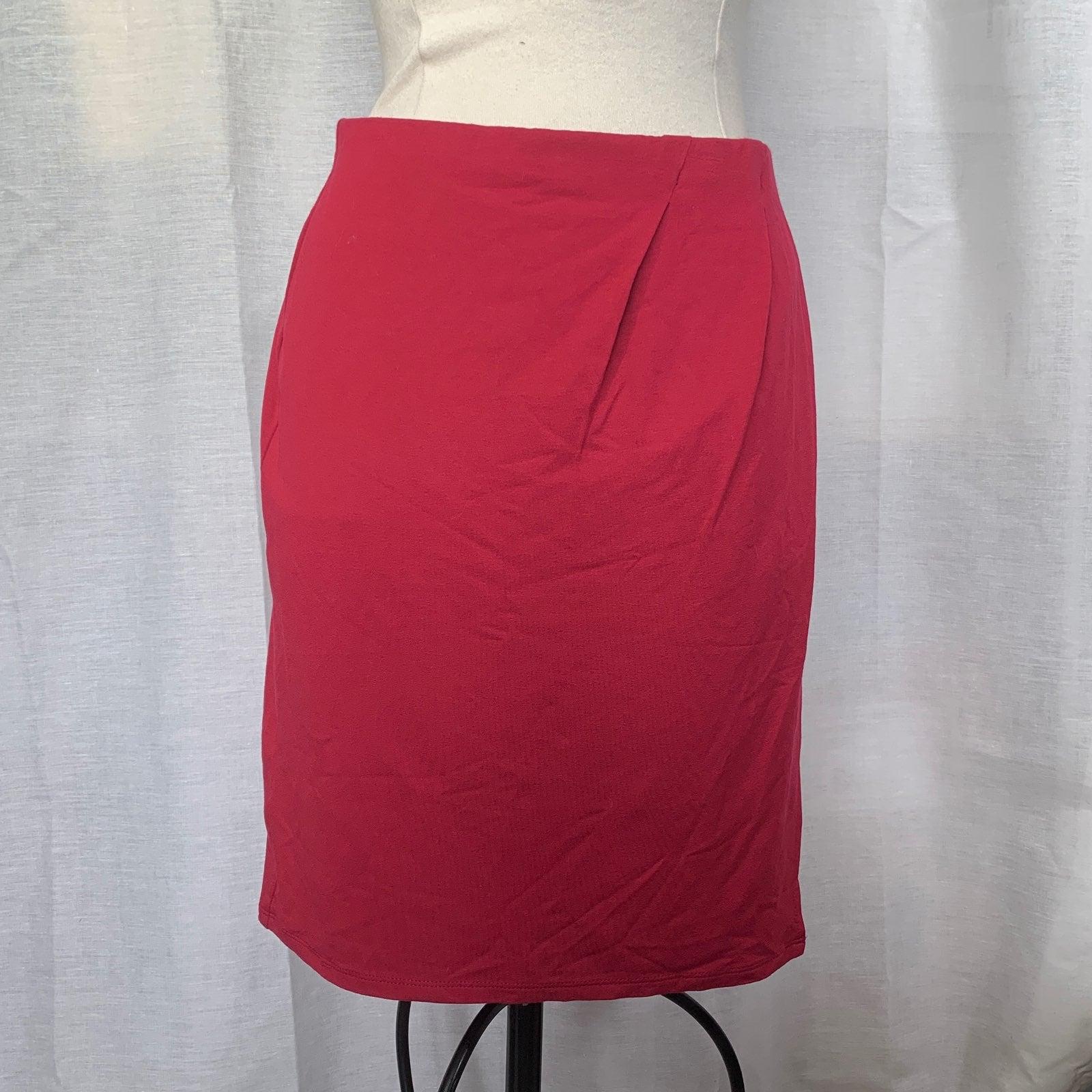 J Jill Magenta Wrap Pencil Skirt