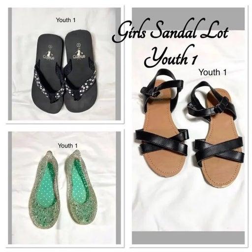 Girls 1Y Sandals Lot
