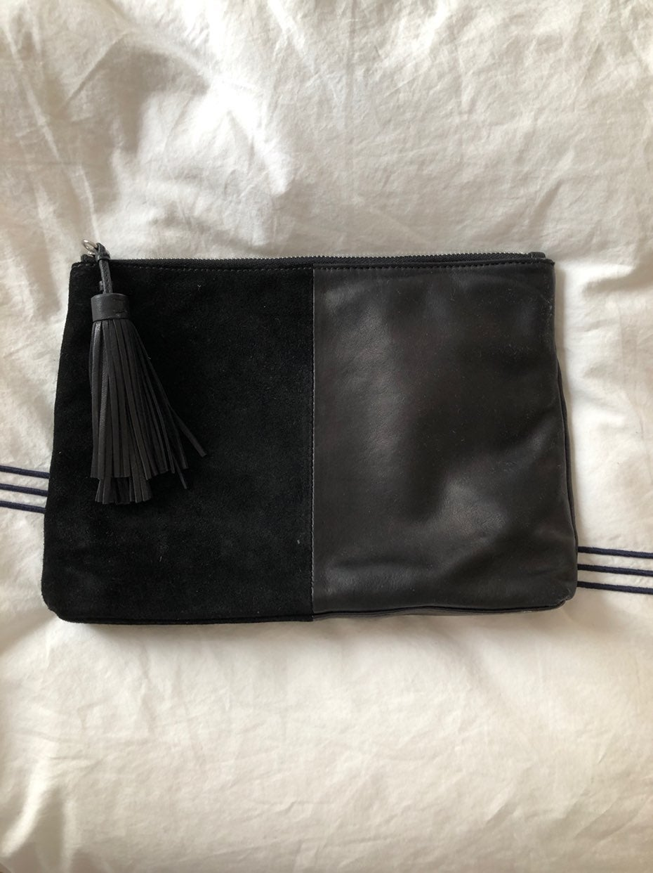 loeffler randall leather and suede tasse