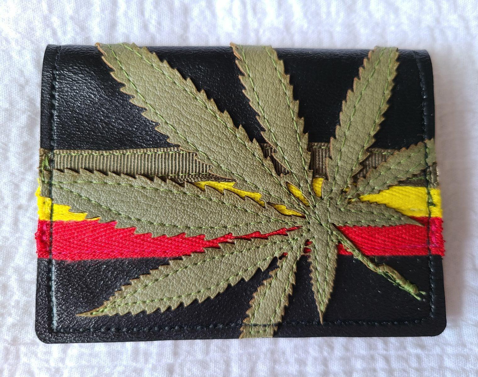Cannabis Leaf Wallet Vegan Leather