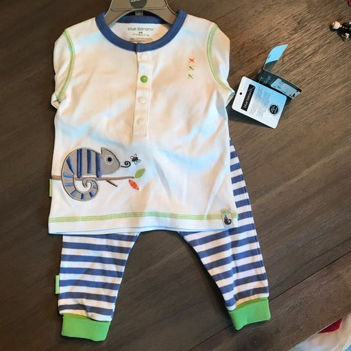NWT 6 month Blue Banana 2 piece outfit