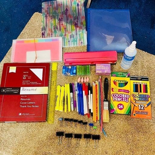 School Supply Bundle Lot