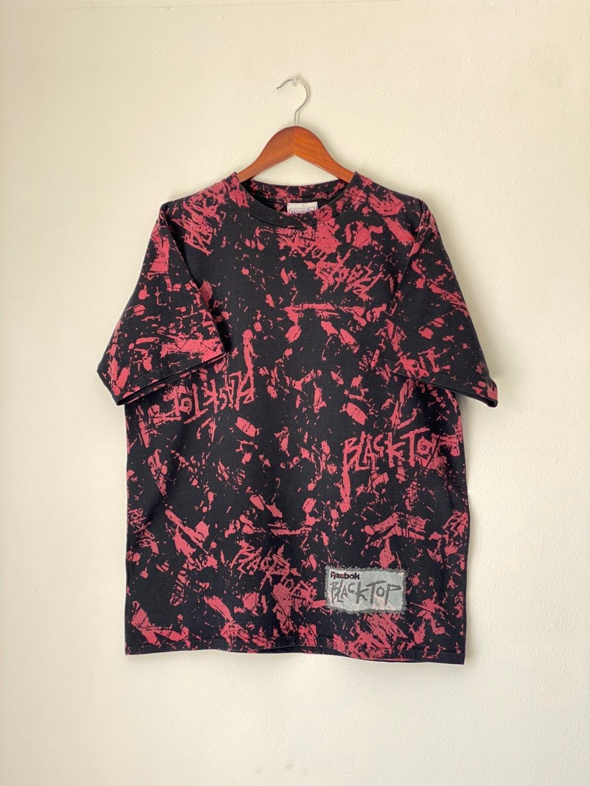 Vtg 90s Reebok Blacktop Shirt Sz L