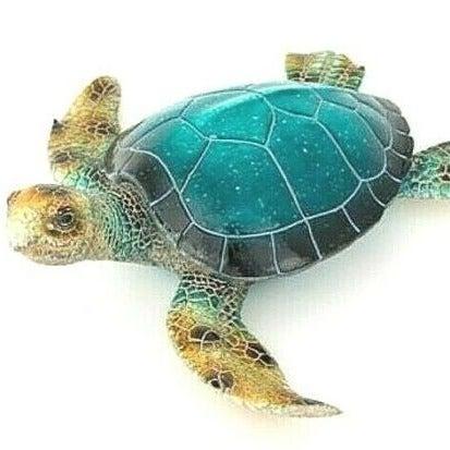 "Blue Turtle Figurine Wall/Table Décor 6"""