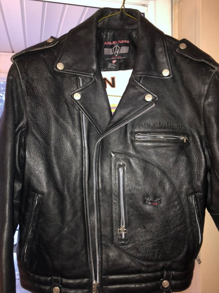 Arlen Ness leather motorcycle Jacket