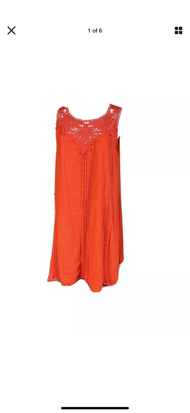 She + Sky Stitch Lace BohoTunic Dress