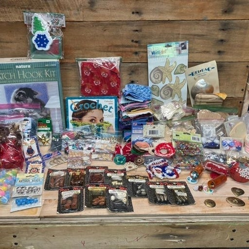 Large Arts And Crafts Supply Lot