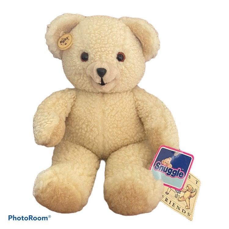 Russ Snuggle Stuffed Bear vintage 1985