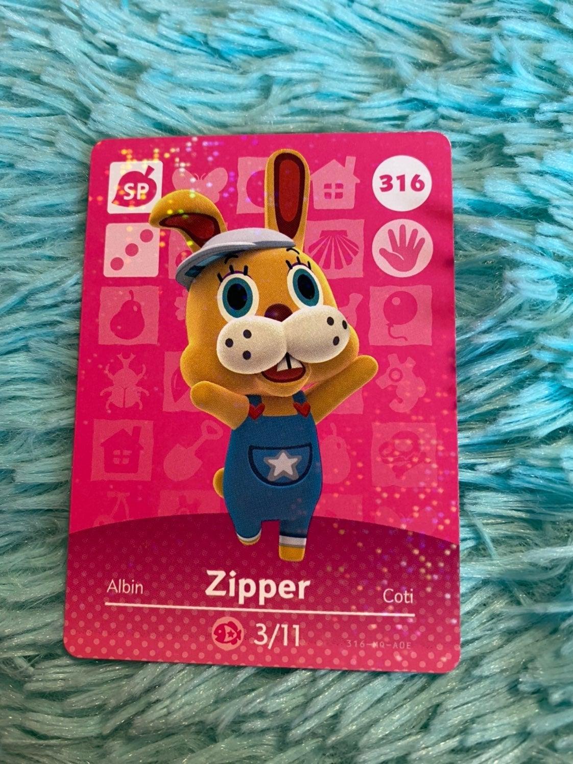 Zipper - Animal Crossing Amiibo Card