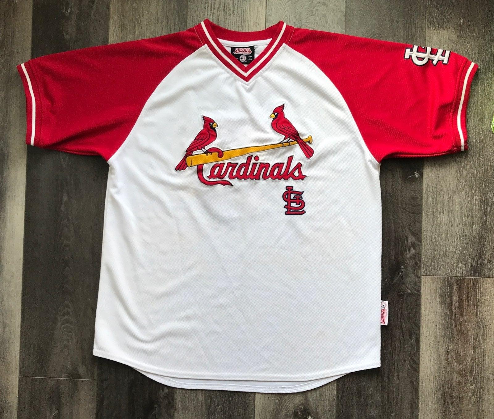 Mens Stitches St Louis Cardinal Jersey