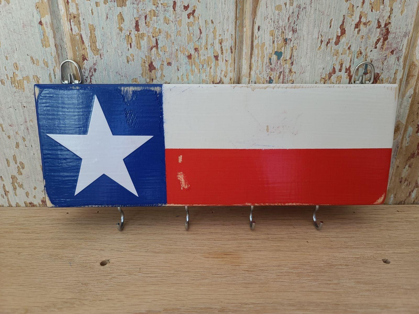 Texas Flag key holder home decor