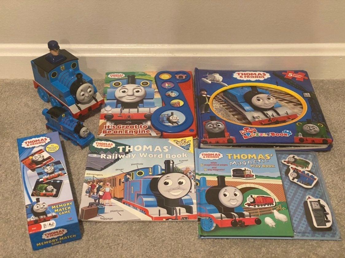 Thomas the Train Books and Toys Lot