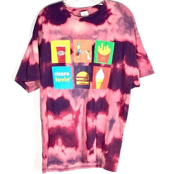 McDonalds Dr Pepper  Tie Dye Tee Shirt