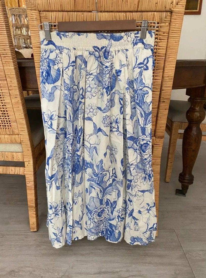 Zara Floral Skirt Size M