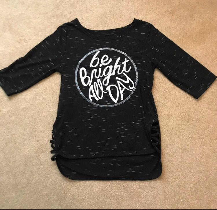 Girls 10 Be Bright Graphic Long Sleeve T