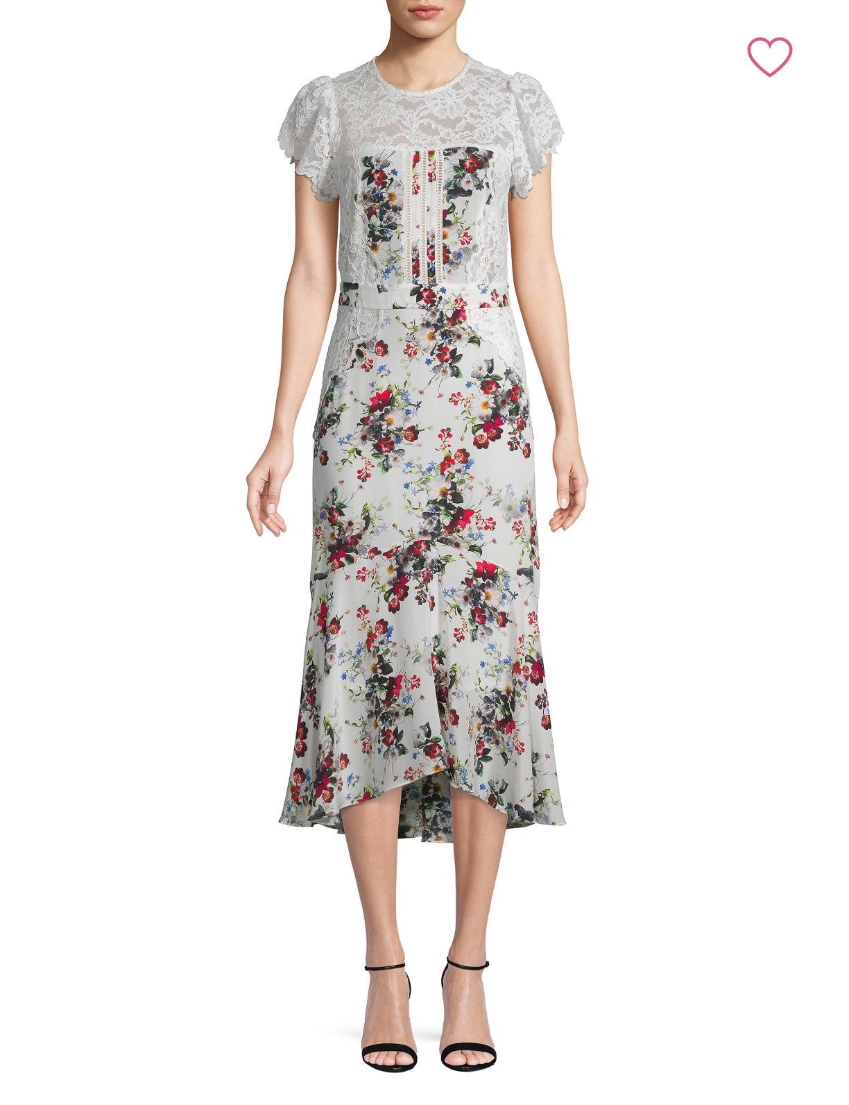 Marissa Webb | Imani print & lace dress