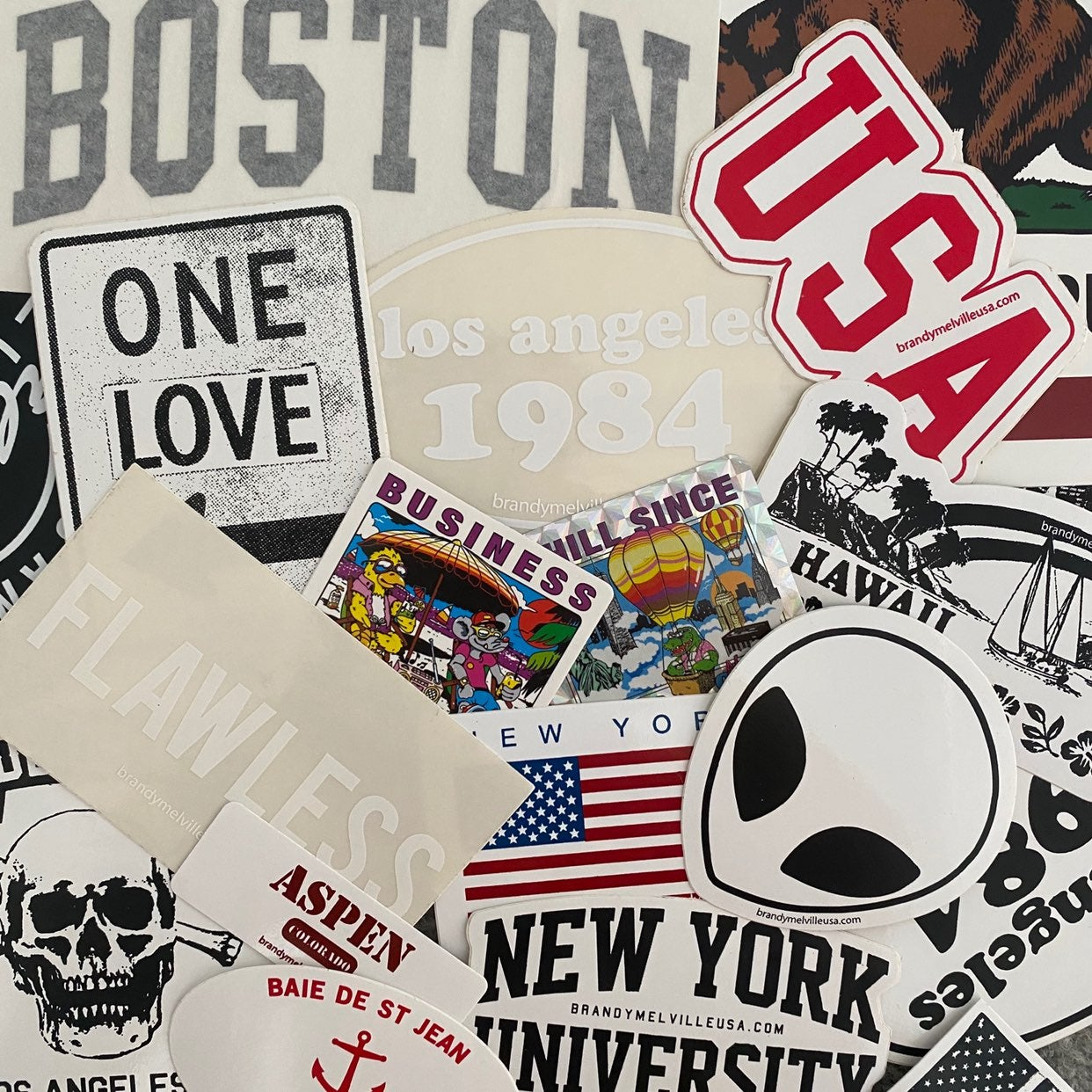 15 brandy melville stickers bundle