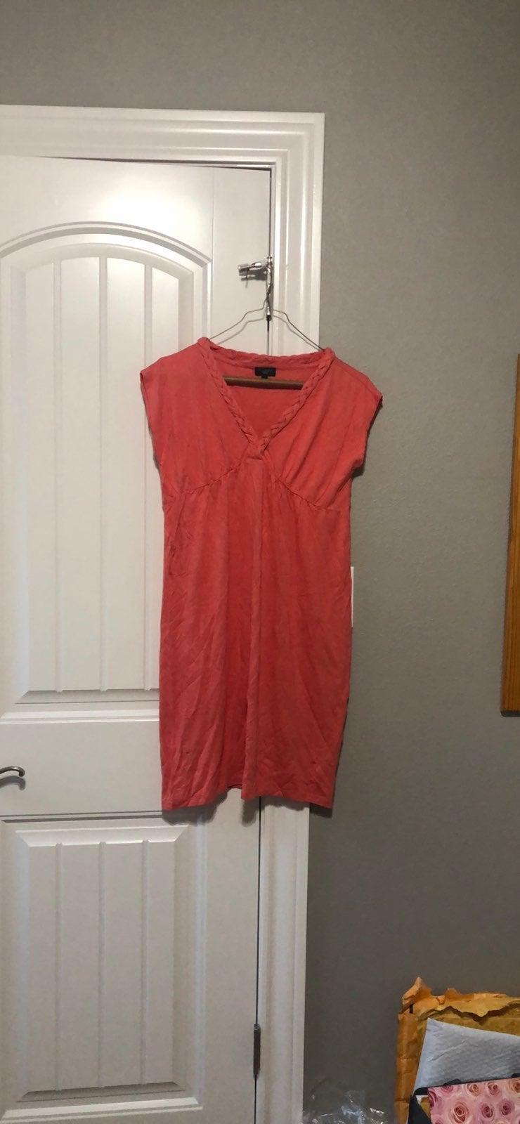 Talbots red petite dress