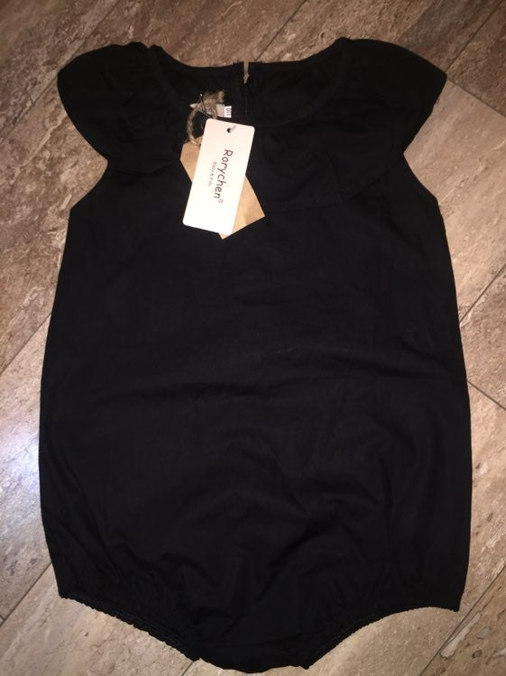 Boutique Black Romper Girls 3T NWT