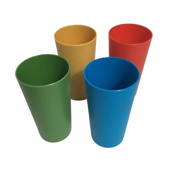 Vintage plastic tumbler drinking cups