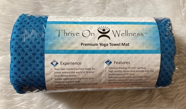 "Thrive On Wellness yoga mat towel 72"""