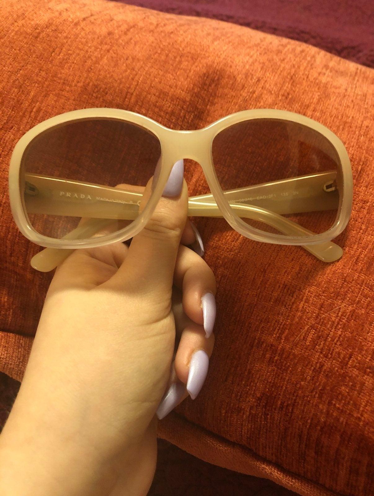 Prada beige/light pink sunglasses great