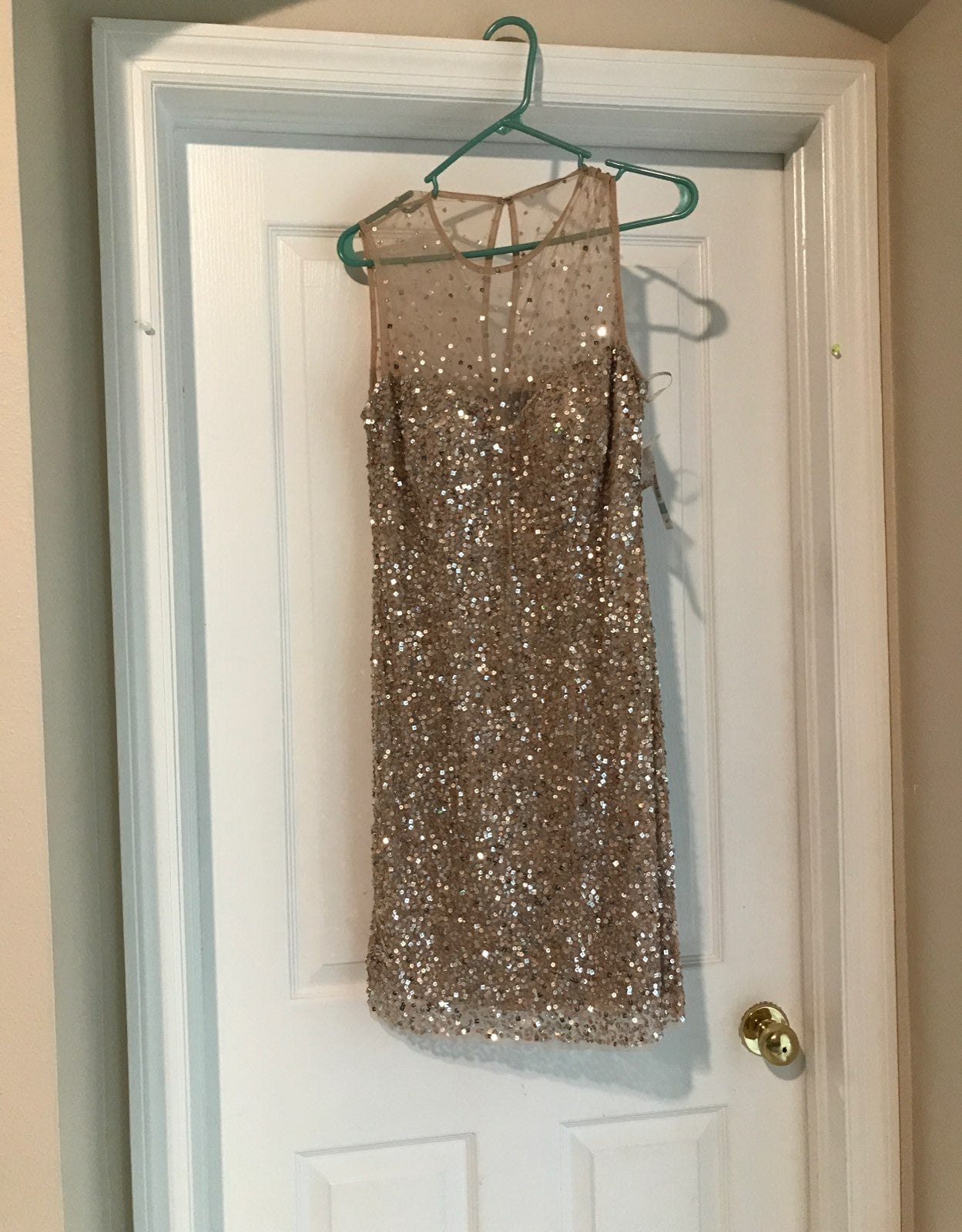 Gorgeous blush sequined formal