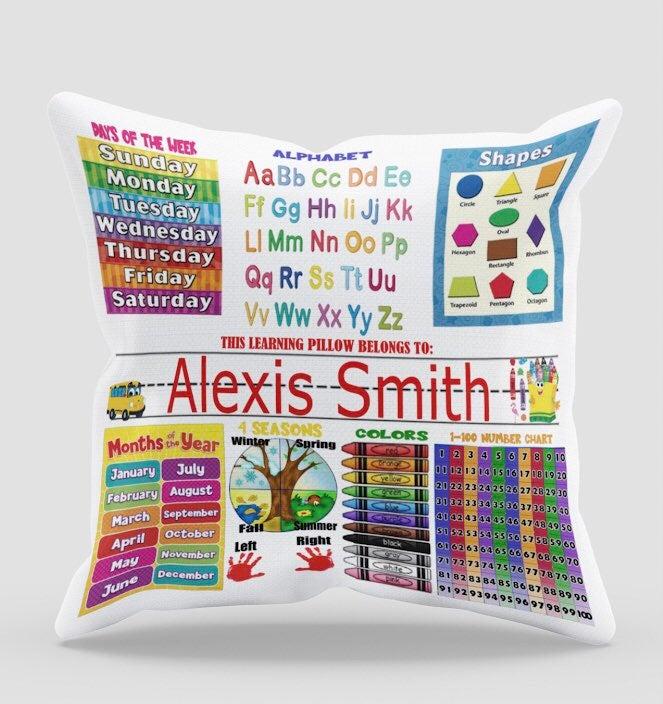 Custom learning pillow