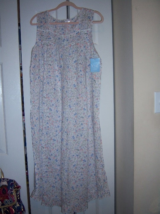ADONNA Sleeveless Cotton Nightgown L NEW