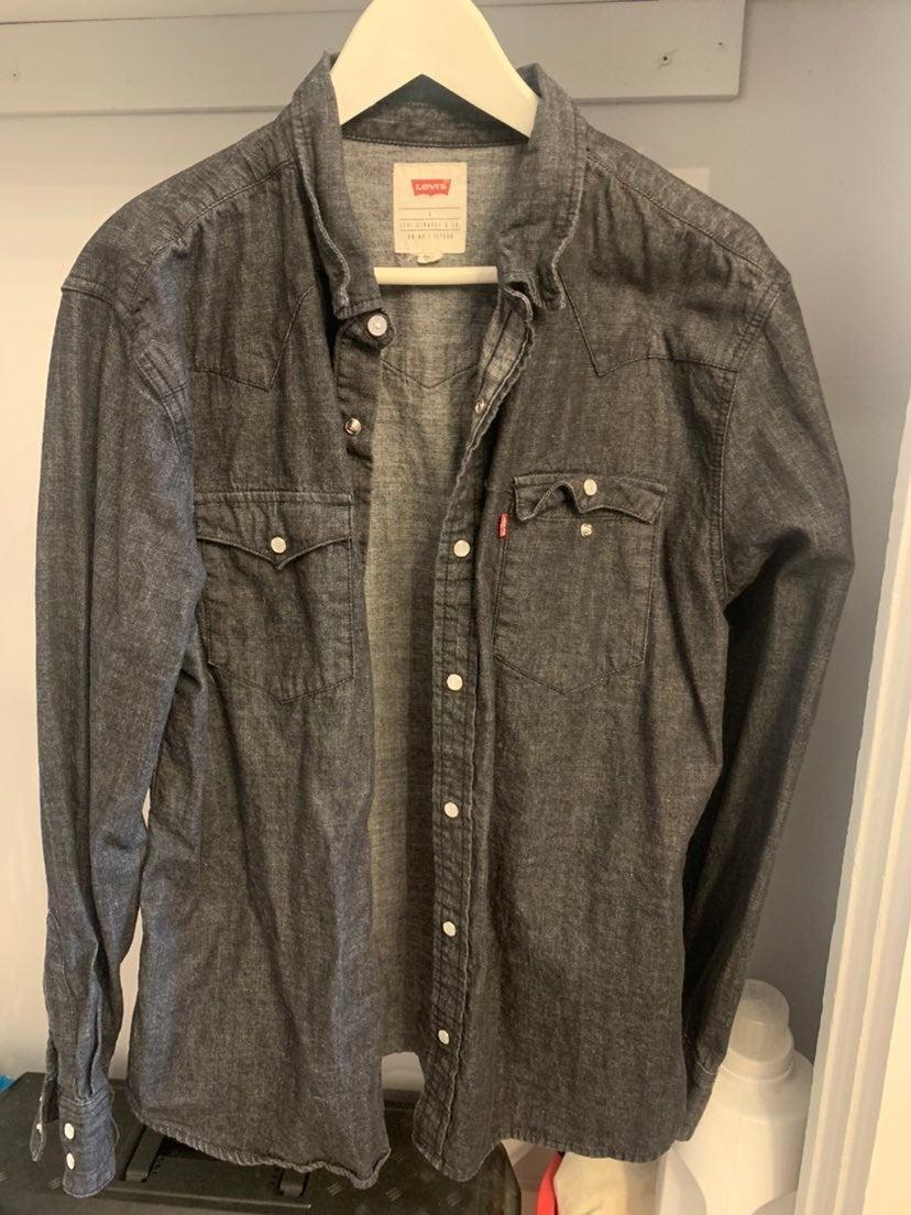 Levi's Canadian Tuxedo Denim Shirt Large