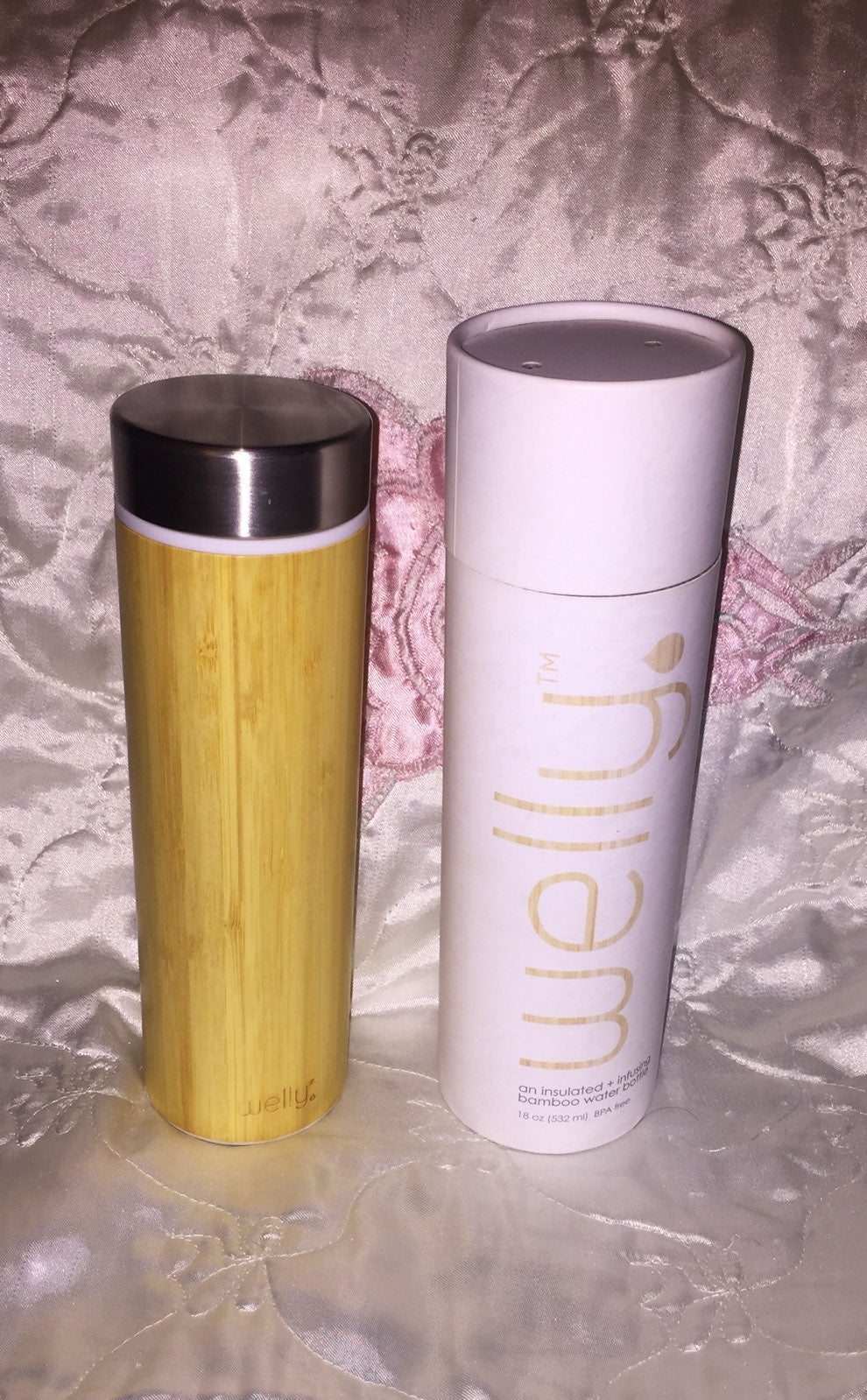 Welly Insulated Bamboo Water Bottle